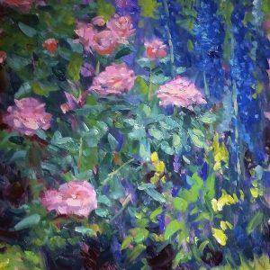 Delphinium & Roses