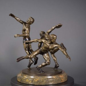 Bronze Sculpture of Olympian throwing the Discus