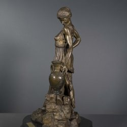 Bronze sculpture inspired by nude model - left side view