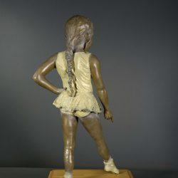 Bronze sculpture of child ballerina