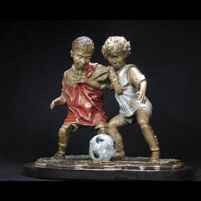 Soccer Sculpture - I Got It, No, I Got It