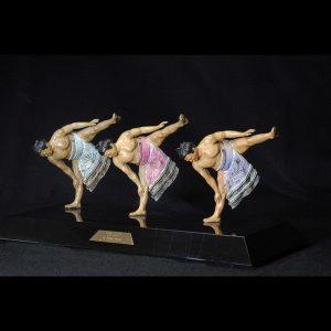 Sports Sculpture - Three Sumotori