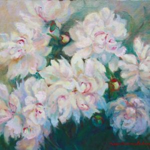 Peonies, Bright Eyes