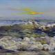 Chuck Larivey yellow sun beach wave