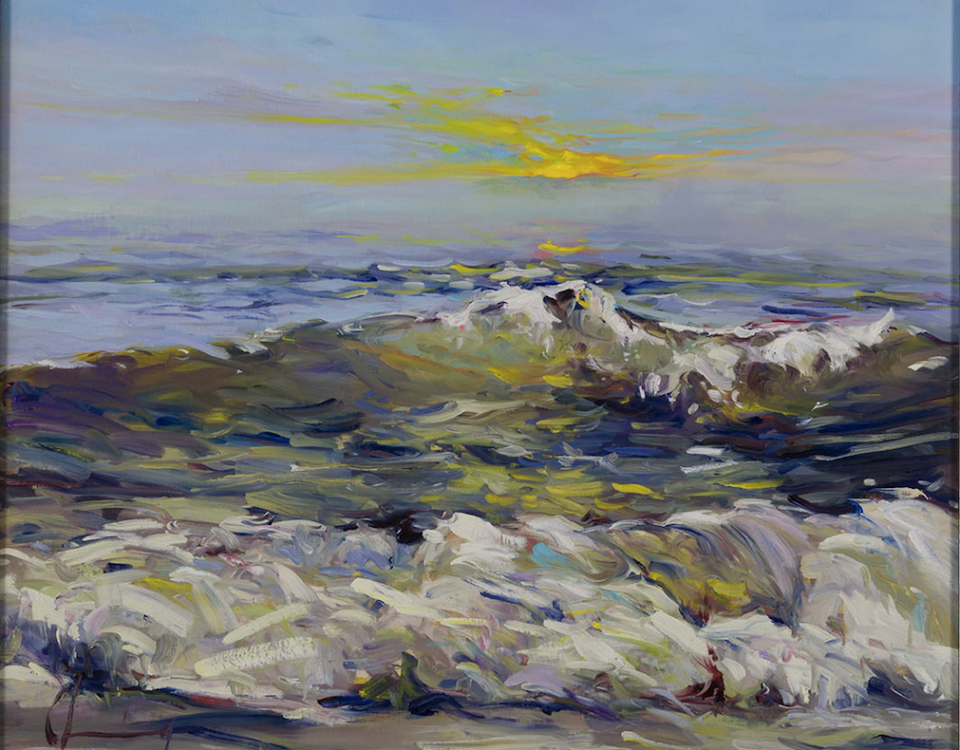 Chuck Larivey yellow sun beach wave