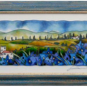 Toscana con Papaveri Blu