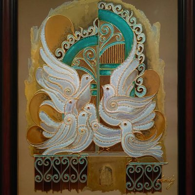 doves-of-peace - mixed media art by Hussein Alobaidy