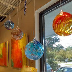 hanging glass ball