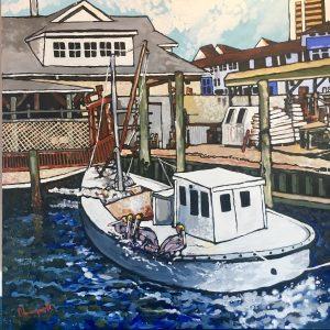 Workboat & Pelicans