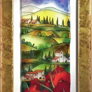 Toscana Con Papaveri